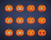 Cute Pumpkin  Avatar Expression Set