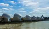 Thames Barrier During The Day