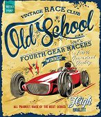 foto of car symbol  - vintage race car for printing - JPG