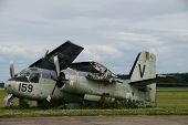 Grumman Tracker V 159: old vintage Dutch military plane wreck