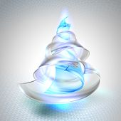 Christmas tree from glass. Vector illustration.