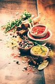 Colorful Mix Of Various Spices And Herbs