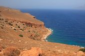 Rocky Coast In Crete