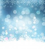 Christmas holiday background with snowflakes