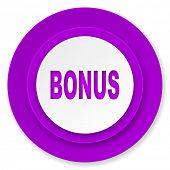 bonus icon, violet button