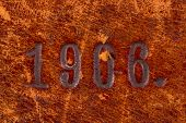 Number On Old Leather