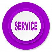 service icon, violet button