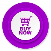 buy now icon, violet button