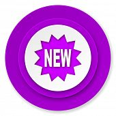 new icon, violet button