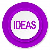 ideas icon, violet button