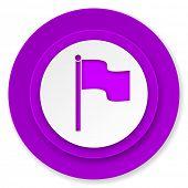 flag icon, violet button