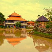 Traditional House And River(Bali, Indonesia)