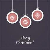 Christmas Greeting Card - Christmas Balls