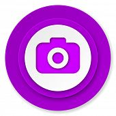 photo camera icon, volet button, photography sign