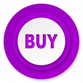 buy icon, violet button