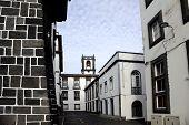 Street view in Ponta Delgada, Azores islands