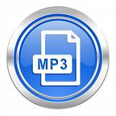 mp3 file icon, blue button