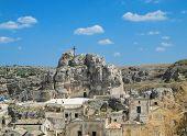 Madonna De Idris roch-church. Sassi of Matera. Basilicata.