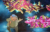 Street art Montreal comic rat