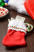 Christmas Stocking With Money