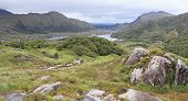 Beautiful landscape of Ladies View in Killarney National Park.