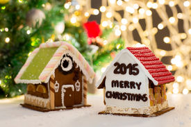 stock photo of gingerbread house  - holidays - JPG