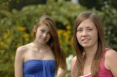 Teenage Girls Outdoors