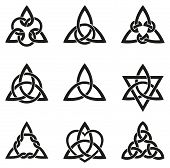 picture of celtic  - A variety of celtic knots used for decoration or tattoos - JPG