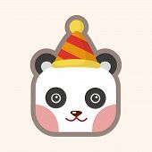 image of panda  - Animal Panda Cartoon Theme Elements - JPG