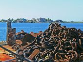 rusted anchor chain