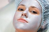 pic of cosmetology  - Girl with a beautician at spa salon - JPG
