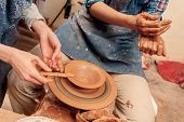 stock photo of molding clay  - Creating a masterpiece - JPG