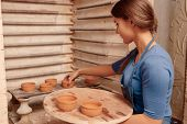foto of molding clay  - Beautiful home crockery - JPG