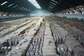Lines of Terracotta Army Soldiers in Pit 1