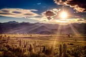 picture of fertilizer  - Beautiful sunset over the fertile plains in southern Croatia - JPG