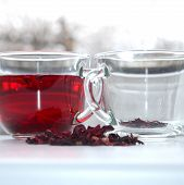 stock photo of hemoglobin  - Red hibiscus tea - JPG