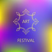 picture of solemn  - Vector template logo of the festival - JPG