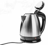 picture of kettles  - Stainless Steel Electric Kettle on the white background - JPG