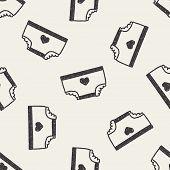 stock photo of diaper  - Diaper Doodle Drawing - JPG