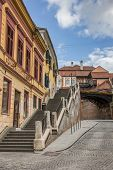 image of sibiu  - Stairs leading to the bridge of lies in Sibiu Romania
