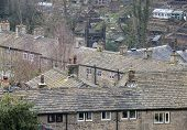 stock photo of west village  - The small pretty village of Luddenden in the South Pennines area of Calderdale in West Yorkshire - JPG
