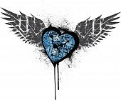 Blue Grunge Heart