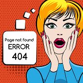 stock photo of not found  - 404 Page not found vector illustration - JPG