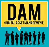 image of dam  - DAM Digital Asset Management Organization Concept - JPG
