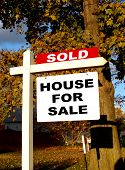 Real Estate Sold and For Sale Sign