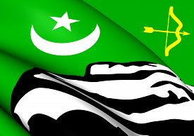picture of pakistani flag  - 3D Flag of the Hunza - JPG