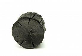 stock photo of charcoal  - Natural wood charcoal - JPG