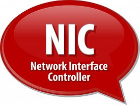 image of nic  - Speech bubble illustration of information technology acronym abbreviation term definition NIC Network Interface Controller - JPG