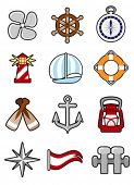 pic of torchlight  - nautical icon set - JPG