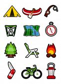 image of torchlight  - camping icons - JPG